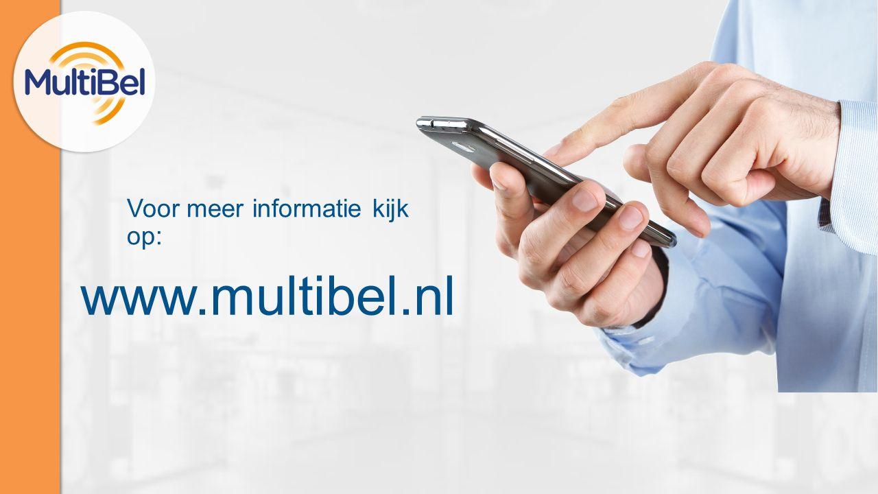 Voor meer informatie kijk op: www.multibel.nl