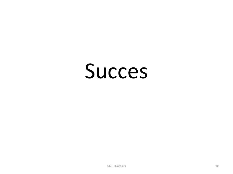 Succes M-J. Kanters18