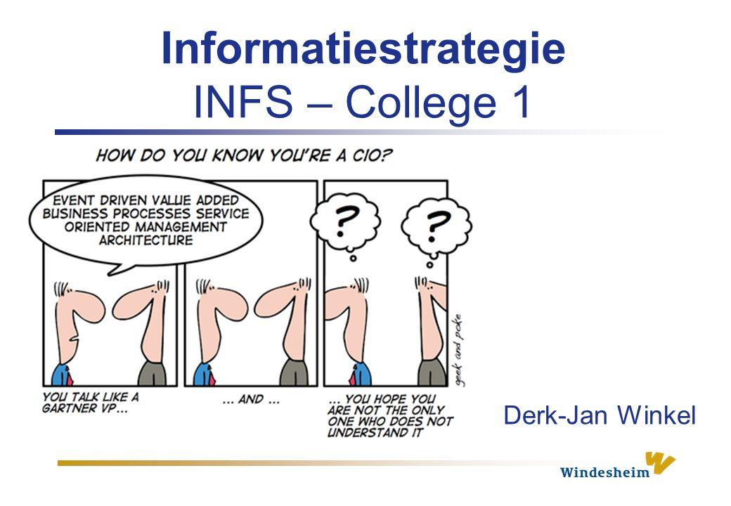 Informatiestrategie INFS – College 1 Derk-Jan Winkel