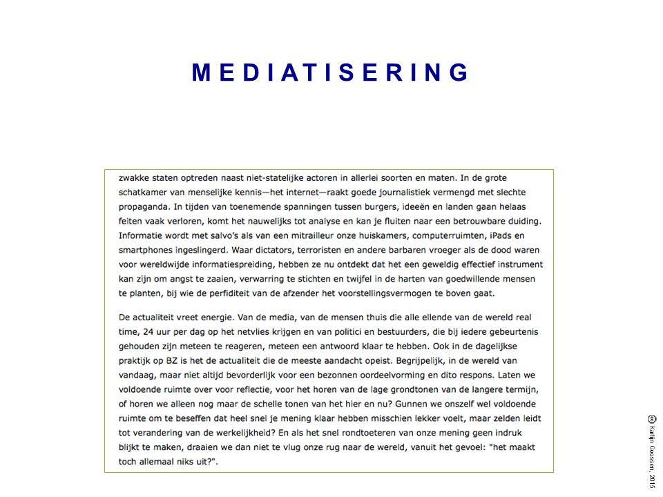 MEDIATISERING Karlijn Goossen, 2015