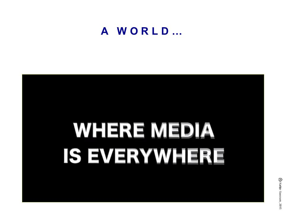 MEDIATISERING …process through which core element of a social or cultural activity assume media form.