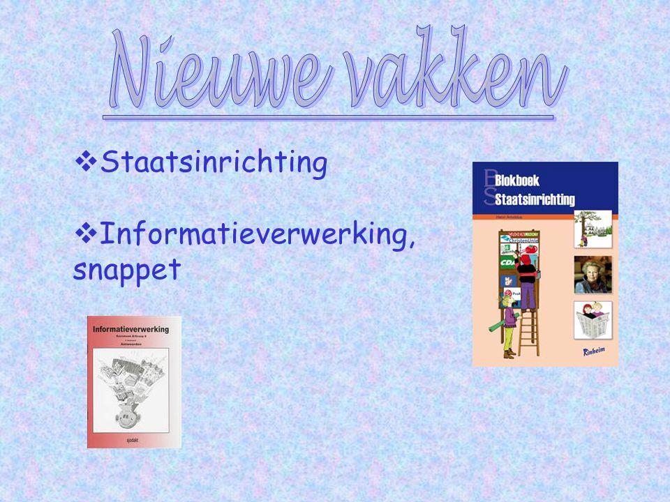  Staatsinrichting  Informatieverwerking, snappet