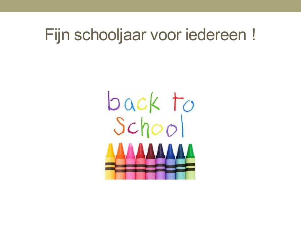 Fijn schooljaar voor iedereen !