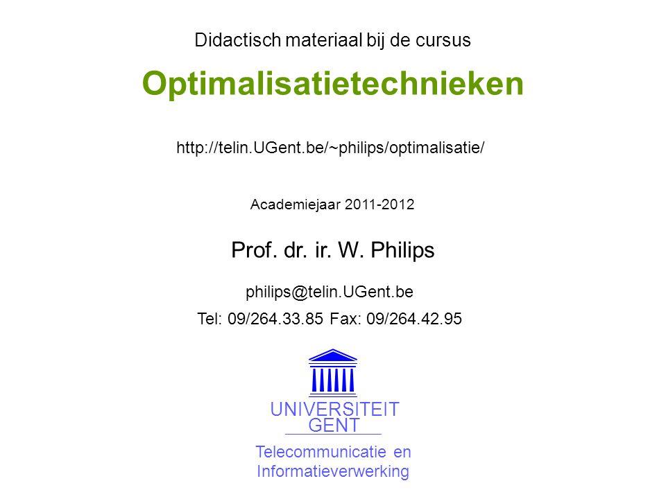 © W.Philips, Universiteit Gent, 1998-2012versie: 23/4/2012 09b.