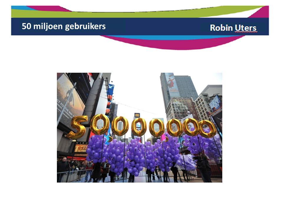 50 miljoen gebruikers