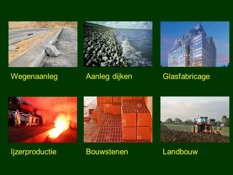 WegenaanlegAanleg dijken Glasfabricage IjzerproductieBouwstenenLandbouw
