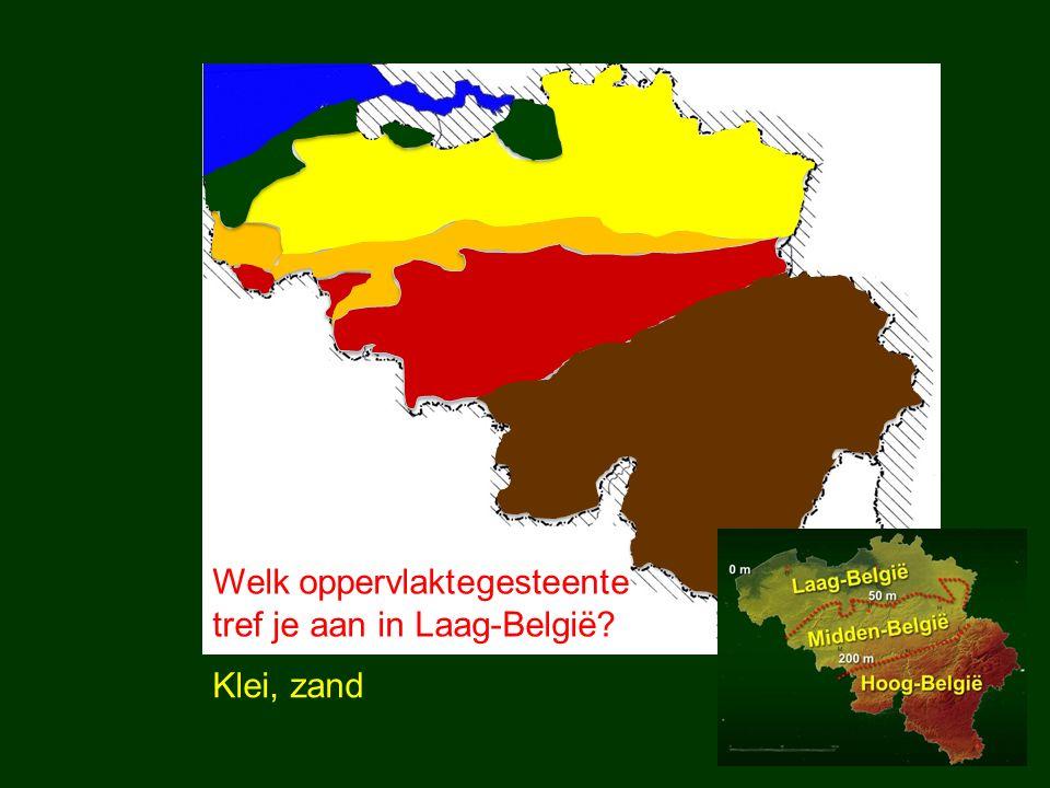 Welk oppervlaktegesteente tref je aan in Midden-België? Leem