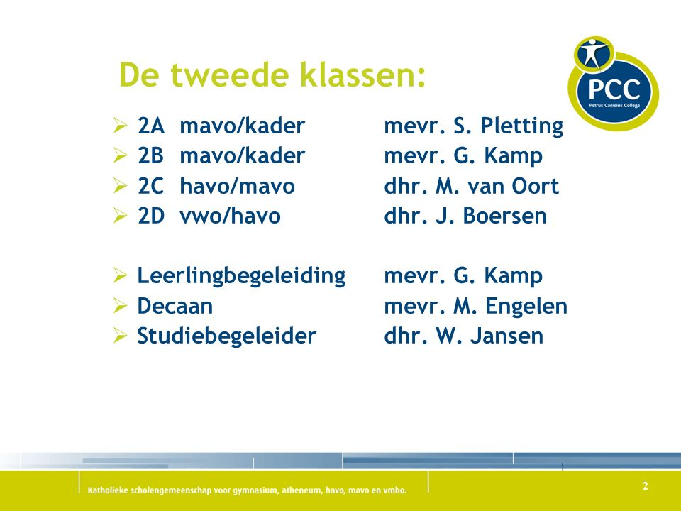 De tweede klassen:  2Amavo/kadermevr.S. Pletting  2Bmavo/kadermevr.