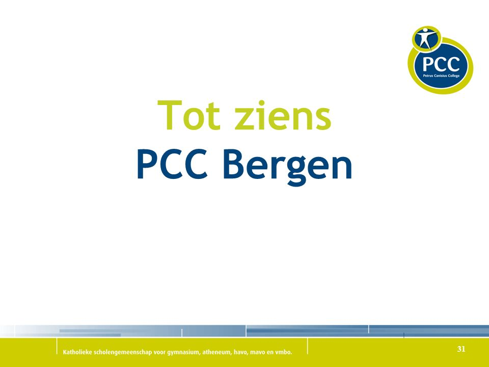 Tot ziens PCC Bergen 31