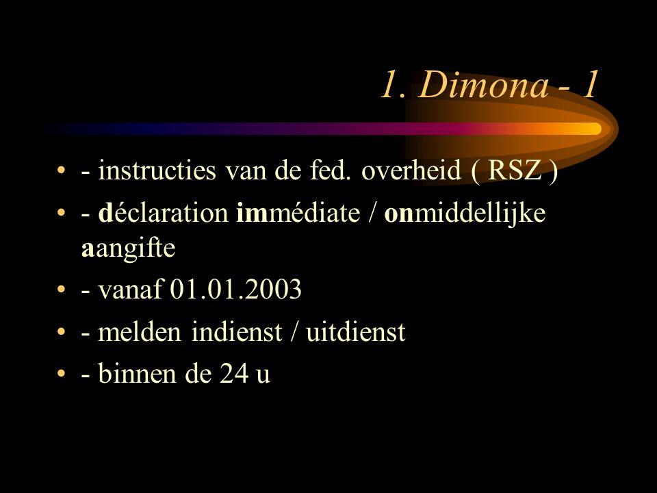 1.Dimona - 2 hoe. –1. via de RL-1 ( aangewezen werkwijze ); –2.