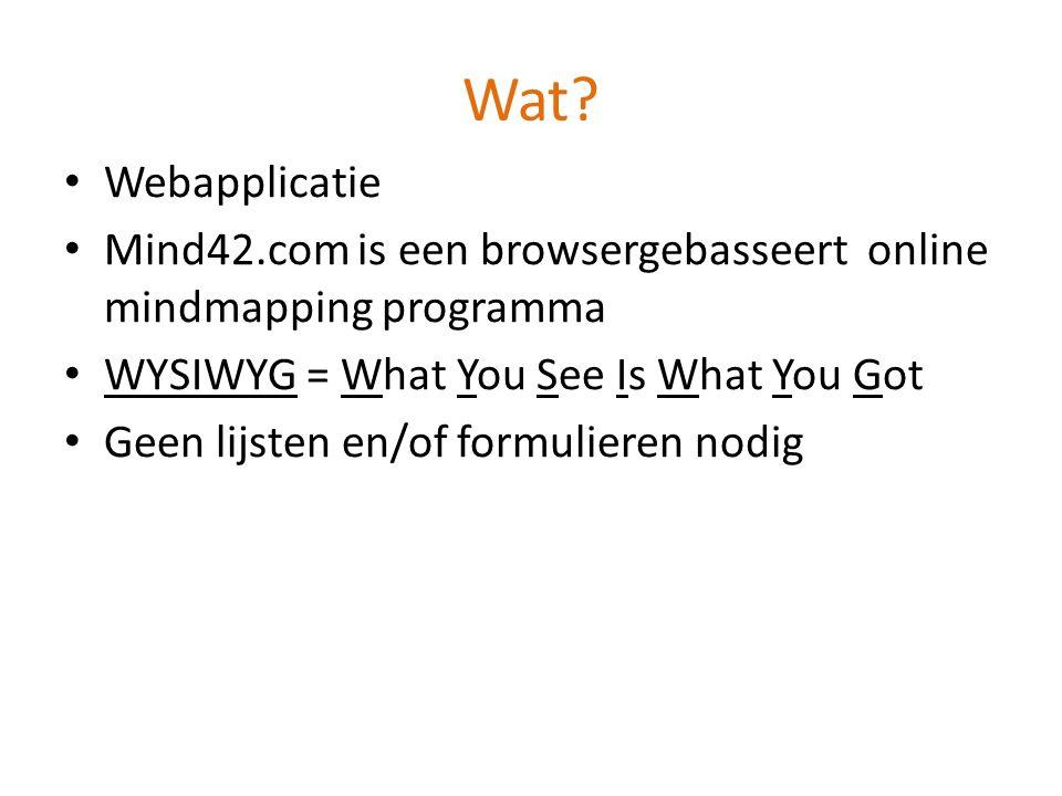 Mind42.com Informatica taak Anne-Laure De Meyer & Laura Van Veerdeghem