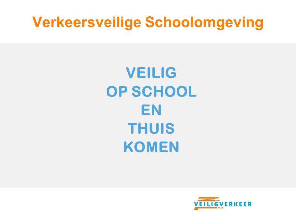 Verkeersveilige Schoolomgeving Schoolomgeving is vaak onoverzichtelijk = onveilig.