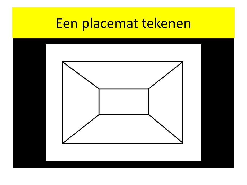 Een placemat tekenen