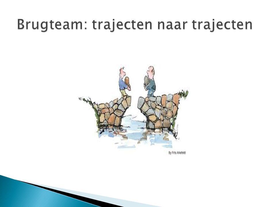  Missie Brugteam:  Het Brugteammaakt de brug tussendak- en/of thuisloze mensen en de reguliere hulpverlening en vergroot zo hun kansen om een menswaardig leven op te bouwen.