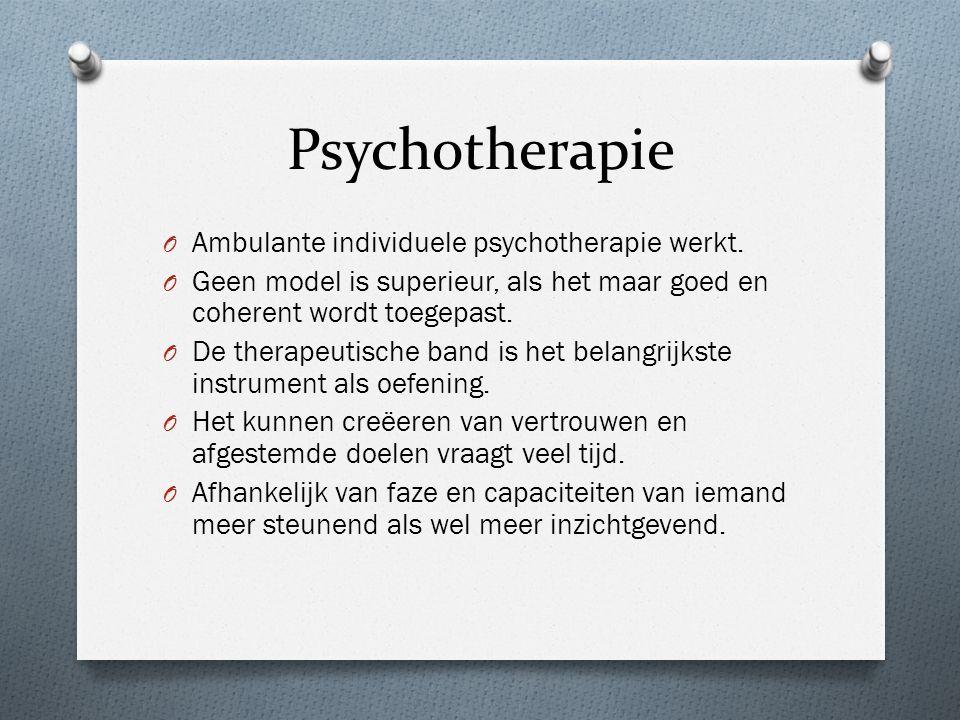 Psychotherapie O Ambulante individuele psychotherapie werkt.