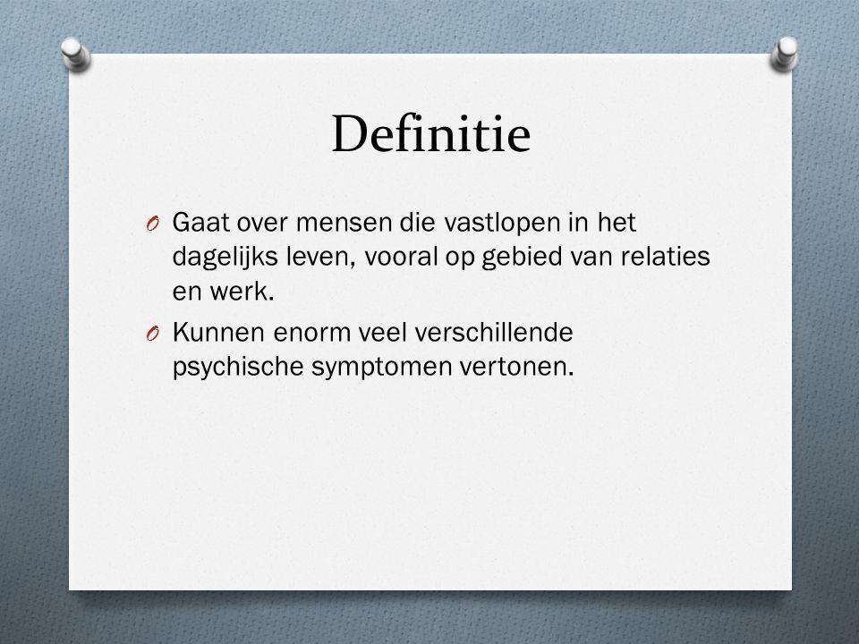 Definitie O Gaat over mensen die vastlopen in het dagelijks leven, vooral op gebied van relaties en werk.