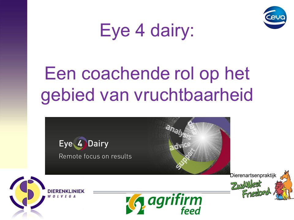 Eye 4 dairy: Een coachende rol op het gebied van vruchtbaarheid