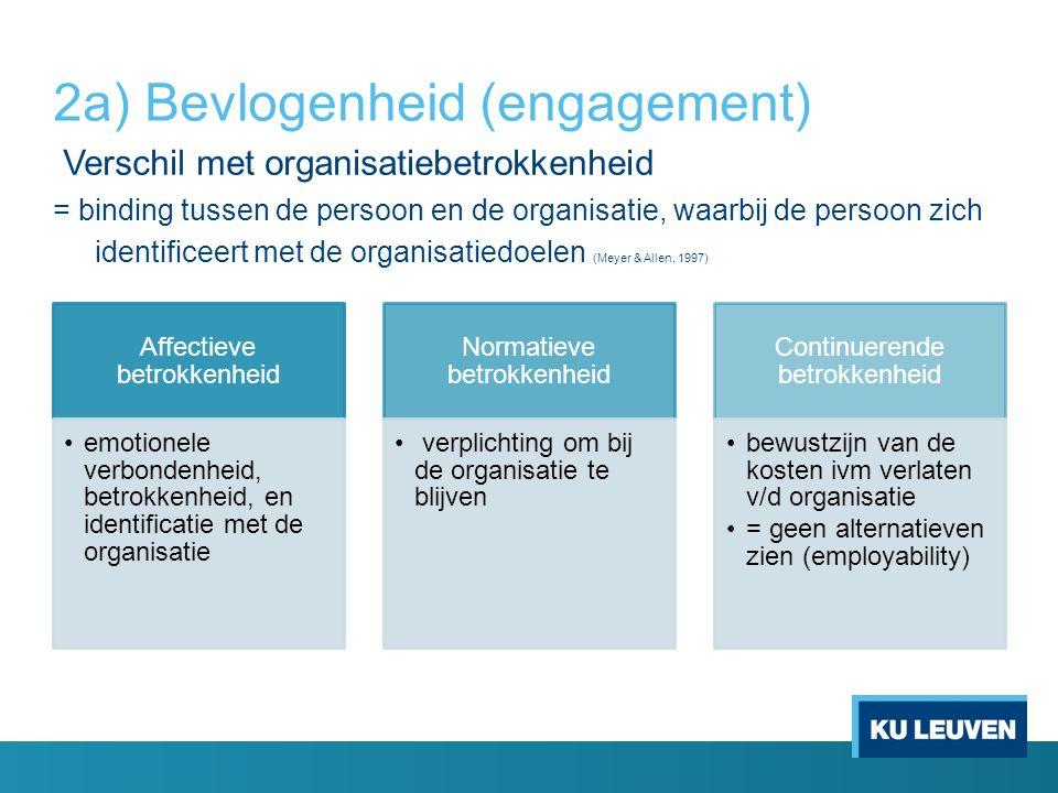 Verschil met organisatiebetrokkenheid = binding tussen de persoon en de organisatie, waarbij de persoon zich identificeert met de organisatiedoelen (M