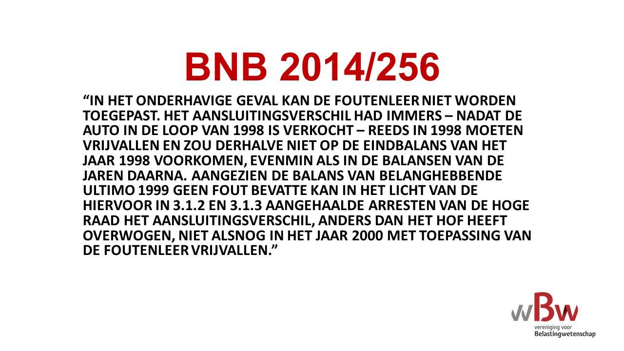BNB 2014/256 IN HET ONDERHAVIGE GEVAL KAN DE FOUTENLEER NIET WORDEN TOEGEPAST.