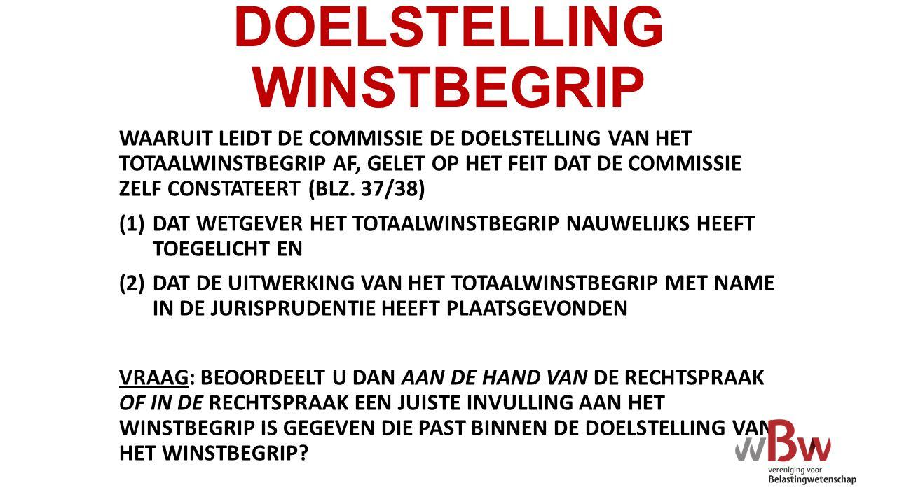 DOELSTELLING WINSTBEGRIP WAARUIT LEIDT DE COMMISSIE DE DOELSTELLING VAN HET TOTAALWINSTBEGRIP AF, GELET OP HET FEIT DAT DE COMMISSIE ZELF CONSTATEERT (BLZ.