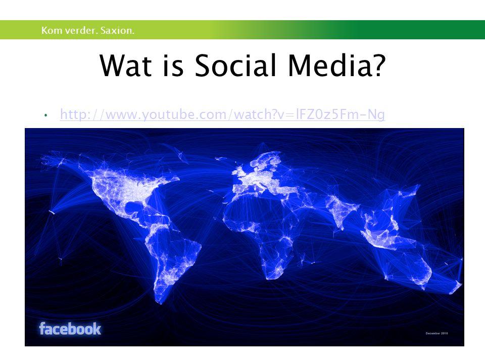 Kom verder. Saxion. Wat is Social Media? http://www.youtube.com/watch?v=lFZ0z5Fm-Ng