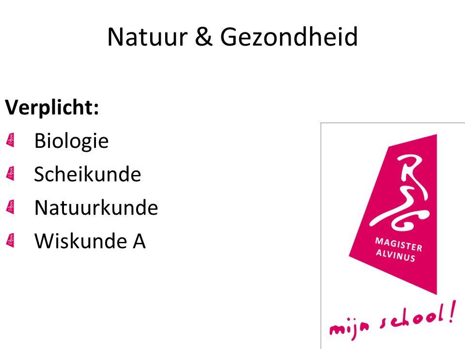Natuur & Gezondheid Verplicht: Biologie Scheikunde Natuurkunde Wiskunde A