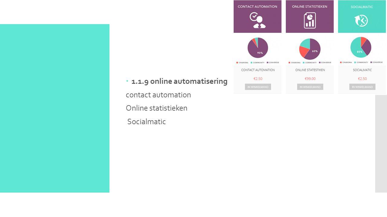  1.1.9 online automatisering contact automation Online statistieken Socialmatic
