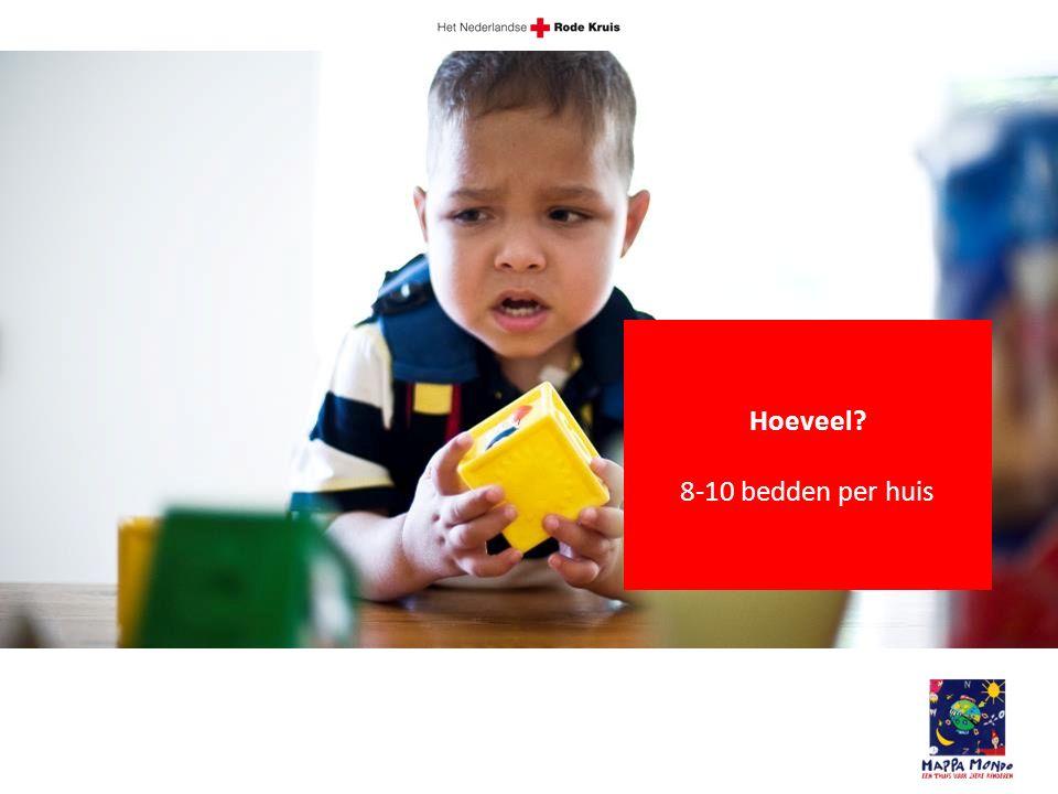 Hoeveel 8-10 bedden per huis