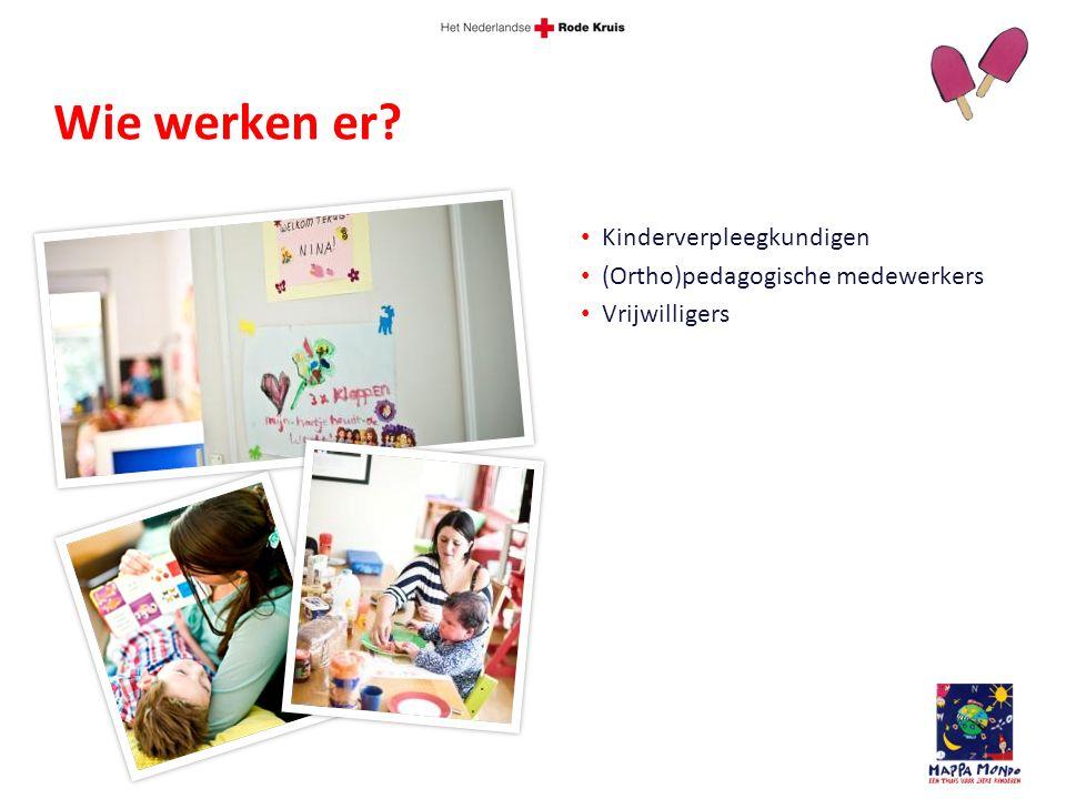 Kinderverpleegkundigen (Ortho)pedagogische medewerkers Vrijwilligers Wie werken er?