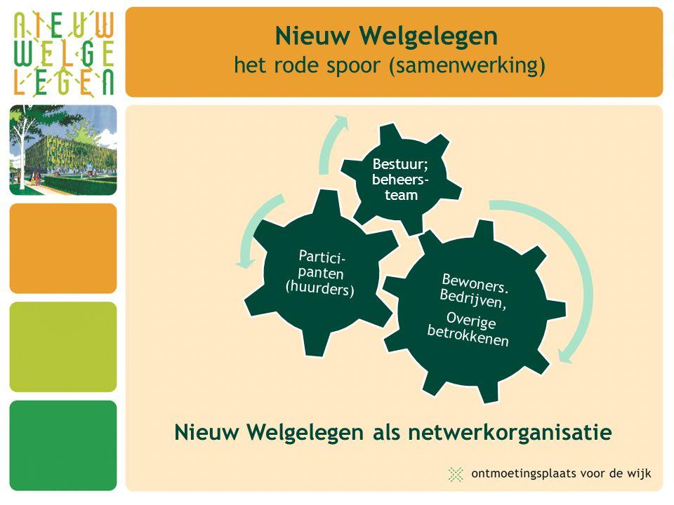 Nieuw Welgelegen het rode spoor (samenwerking) Nieuw Welgelegen als netwerkorganisatie