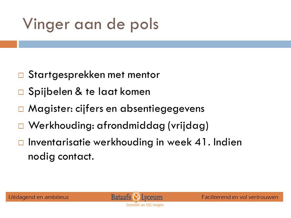 Mentoren Elvira Beerninklokaal 1.24 Ben Overbeeklokaal 0.15 Bert van Zwietenlokaal 1.21