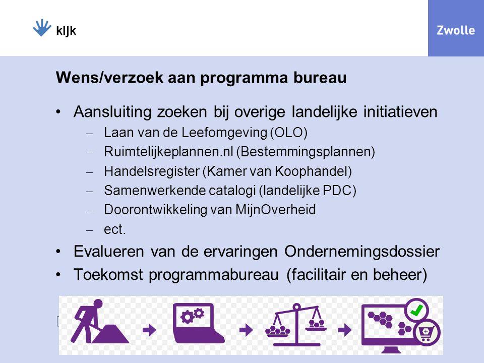kijk Wens/verzoek aan programma bureau Aansluiting zoeken bij overige landelijke initiatieven  Laan van de Leefomgeving (OLO)  Ruimtelijkeplannen.nl