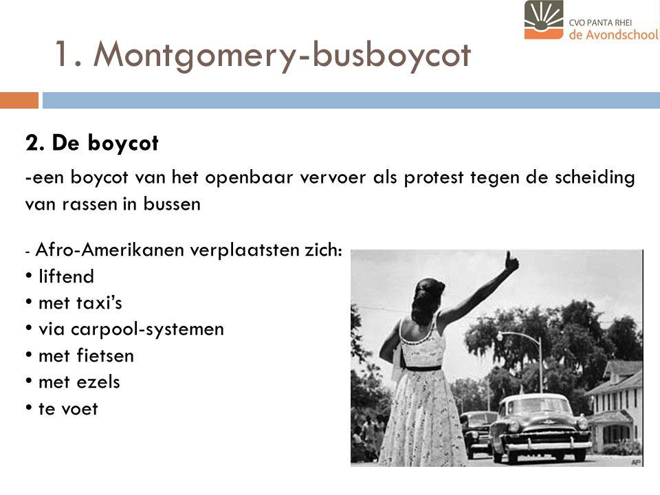 1.Montgomery-busboycot 2.