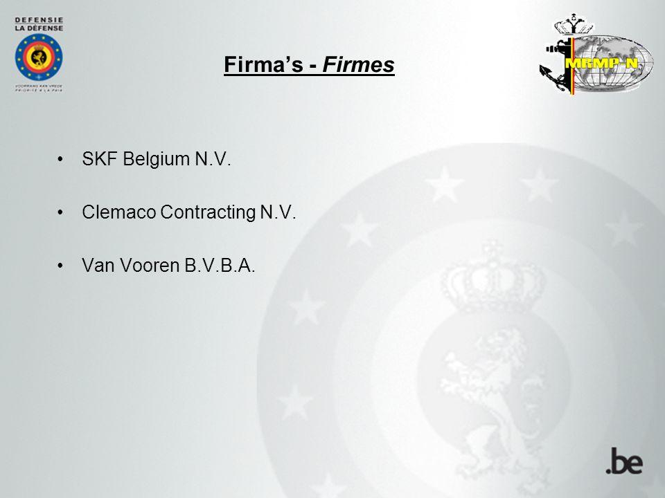 SKF Belgium N.V. Clemaco Contracting N.V. Van Vooren B.V.B.A. Firma's - Firmes