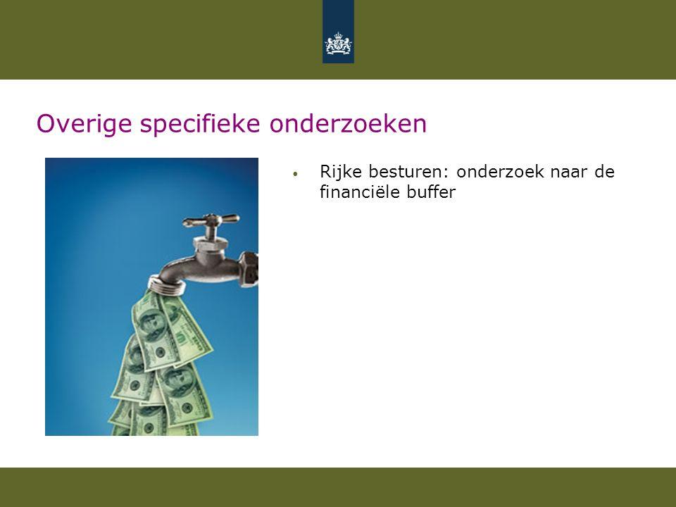 Overige specifieke onderzoeken Rijke besturen: onderzoek naar de financiële buffer