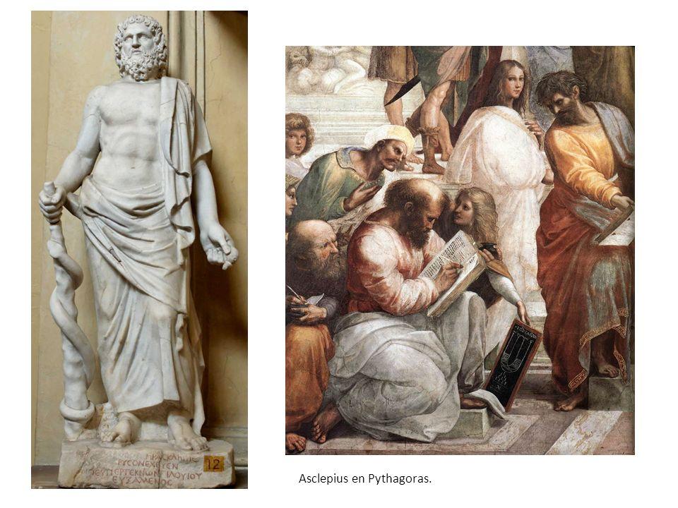 Asclepius en Pythagoras.
