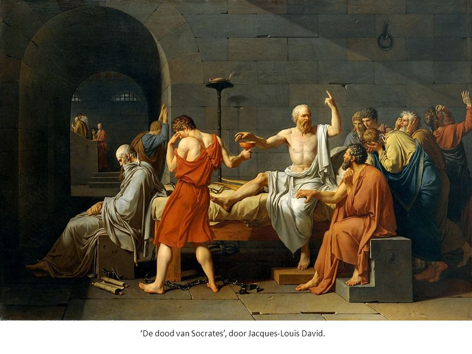 'De dood van Socrates', door Jacques-Louis David.