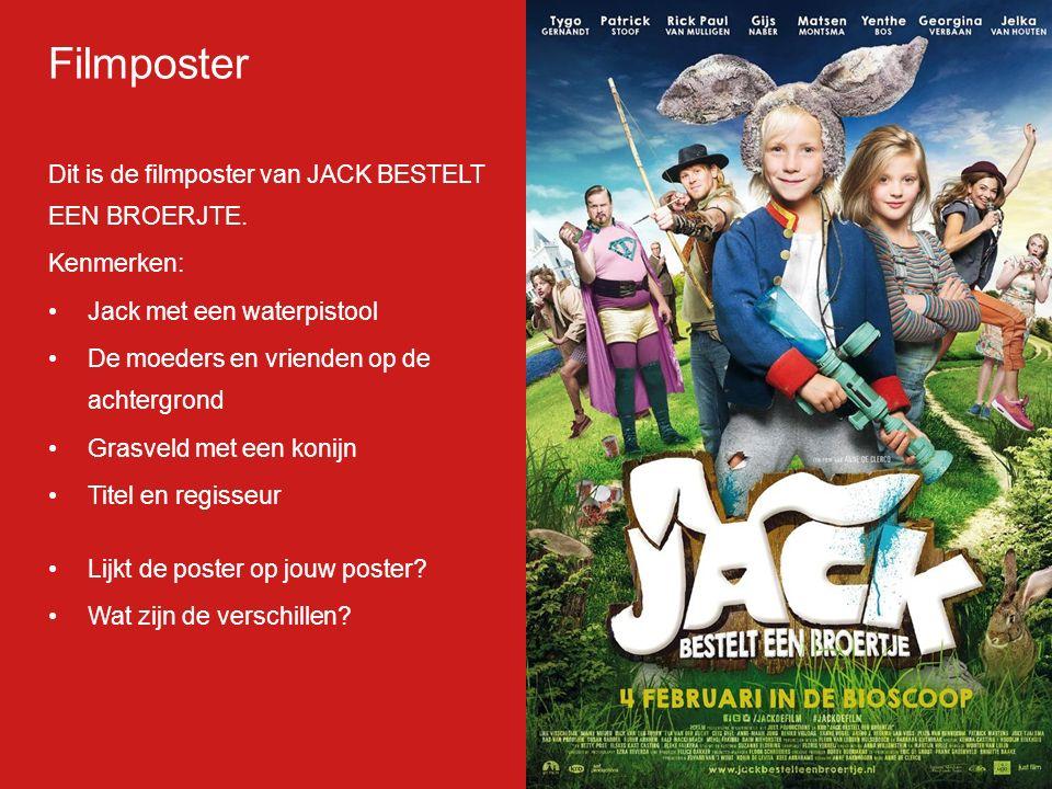 Filmp oster Dit is de filmposter van JACK BESTELT EEN BROERJTE.