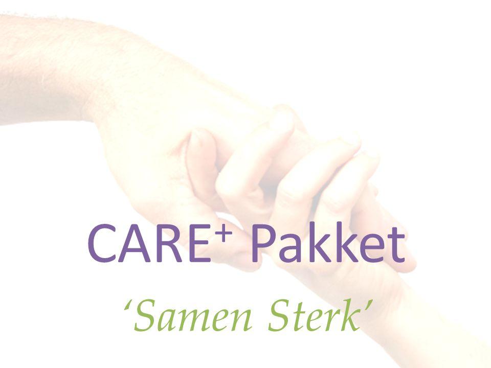 Care Pakket - openstellen Care+ Pakket - ondersteunen Care++ Pakket - ondernemen Care Pakketten