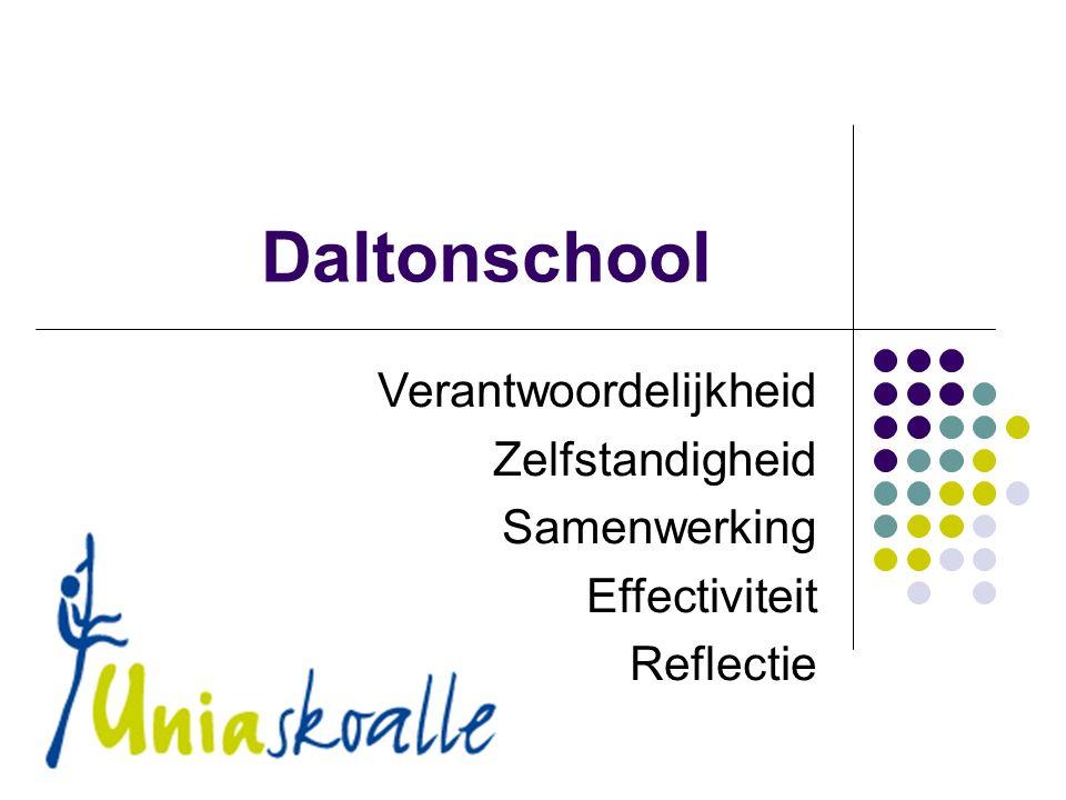 Daltonschool Verantwoordelijkheid Zelfstandigheid Samenwerking Effectiviteit Reflectie