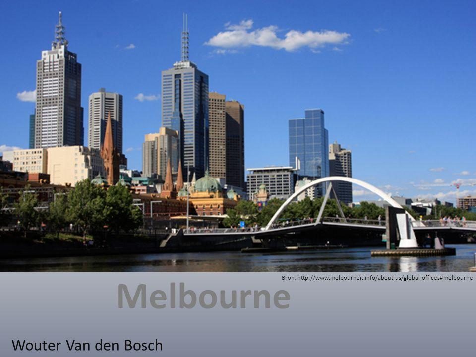 gegevens Gesticht 30 augustus 1835 2 e grootste stad van Australië 4.077.136 inwoners (2010) 7496 m² groot Bron: http://en.wikipedia.org/wiki/Melbourne