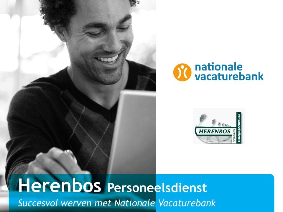 Herenbos Personeelsdienst Succesvol werven met Nationale Vacaturebank
