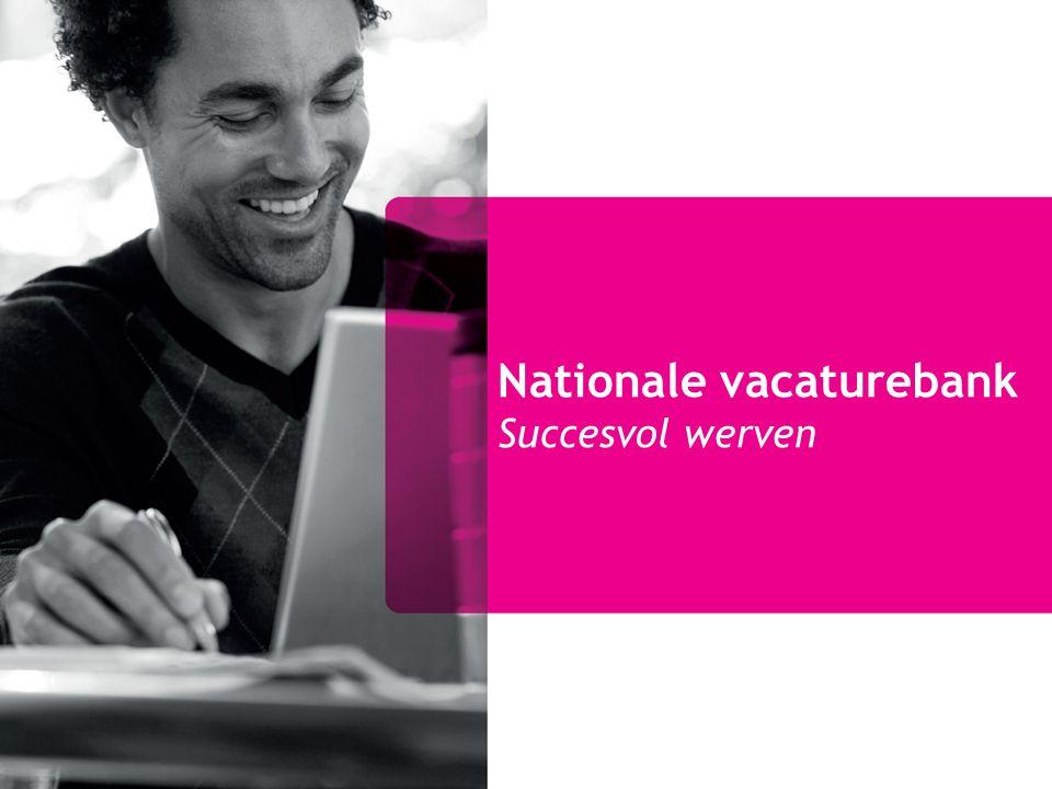 Nationale vacaturebank Succesvol werven