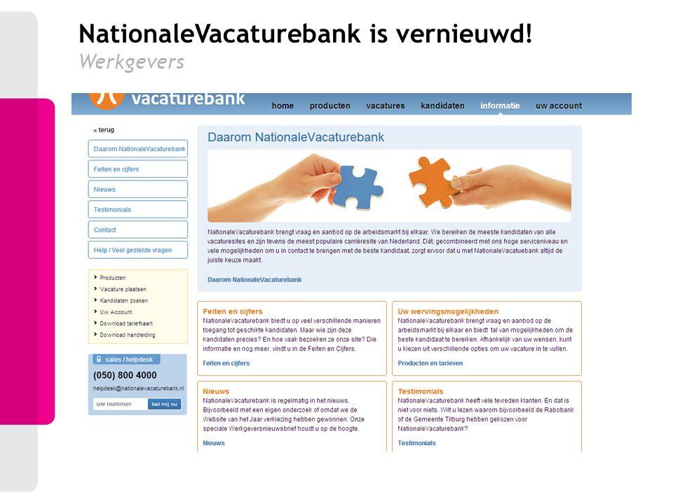 NationaleVacaturebank is vernieuwd! Werkgevers