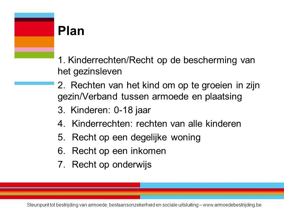 Plan 1. Kinderrechten/Recht op de bescherming van het gezinsleven 2.