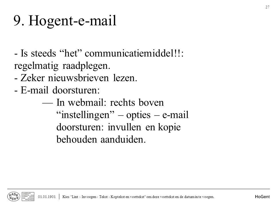 9. Hogent-e-mail 01.01.1901Kies