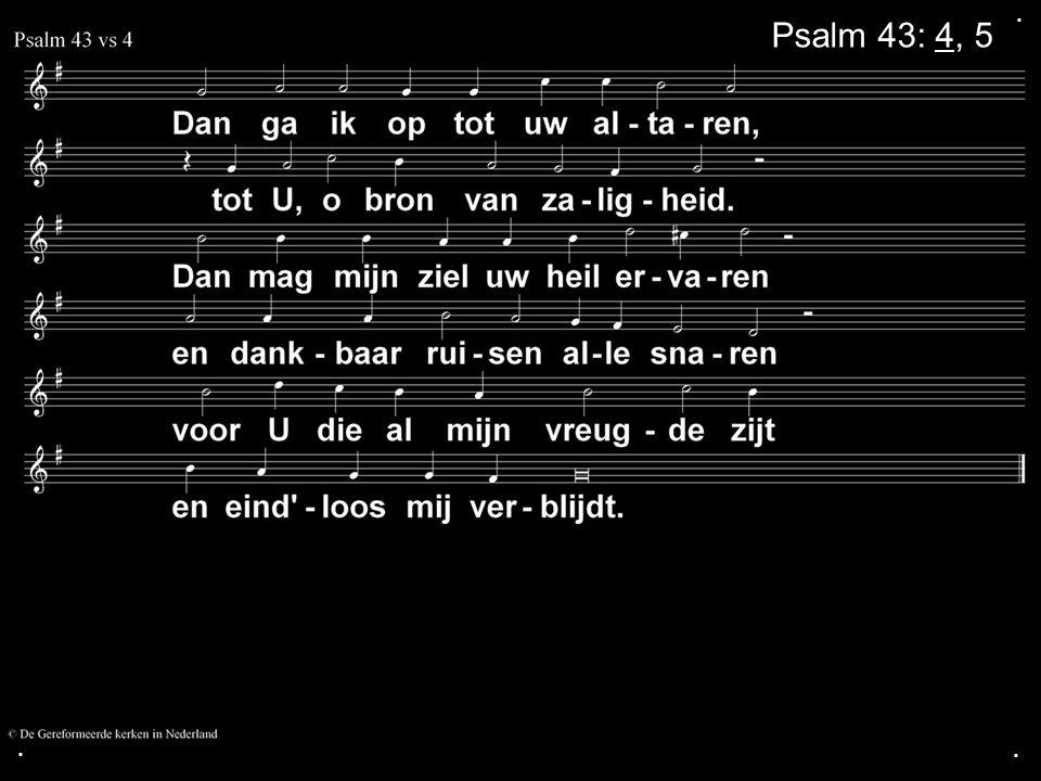 .... COLLECTE Volgende week Is de collecte voor de Kerk Na de collecte zingen we: Psalm 86: 4, 5