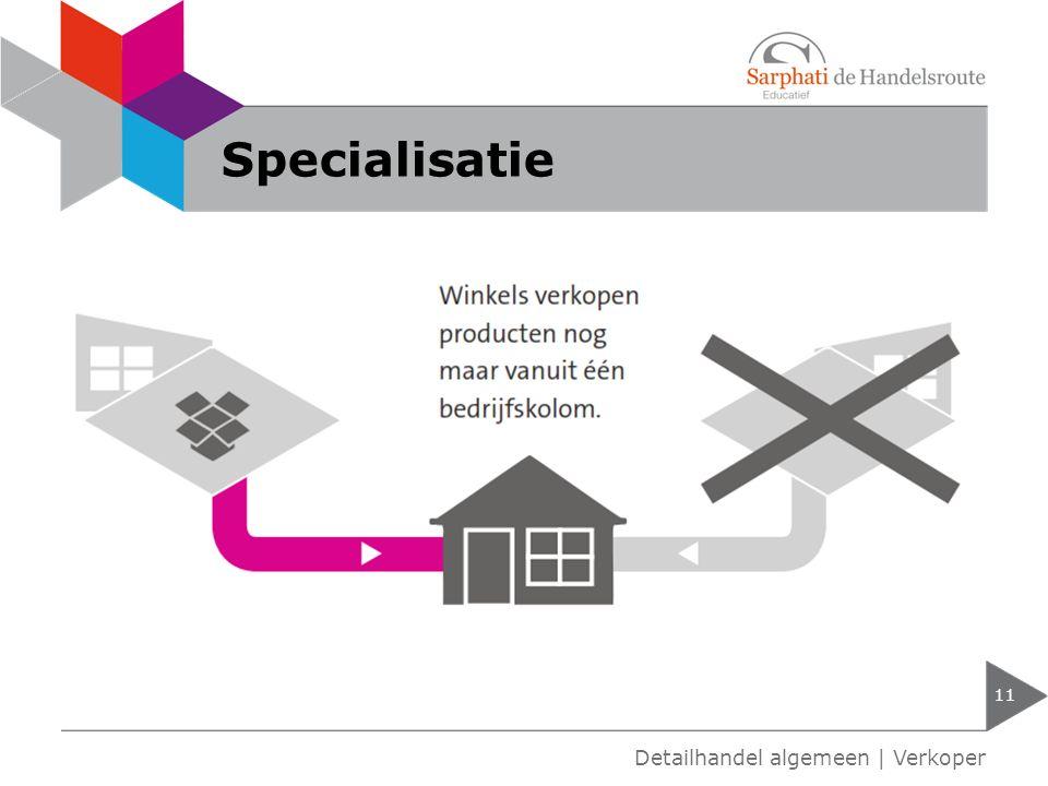 Specialisatie 11 Detailhandel algemeen | Verkoper