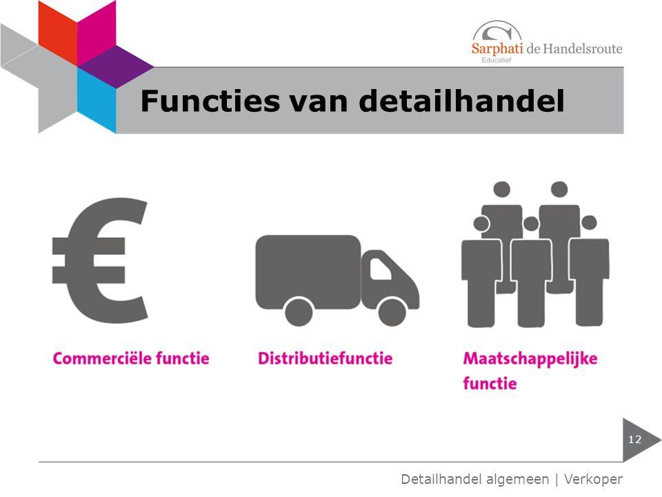 Functies van detailhandel 12 Detailhandel algemeen | Verkoper