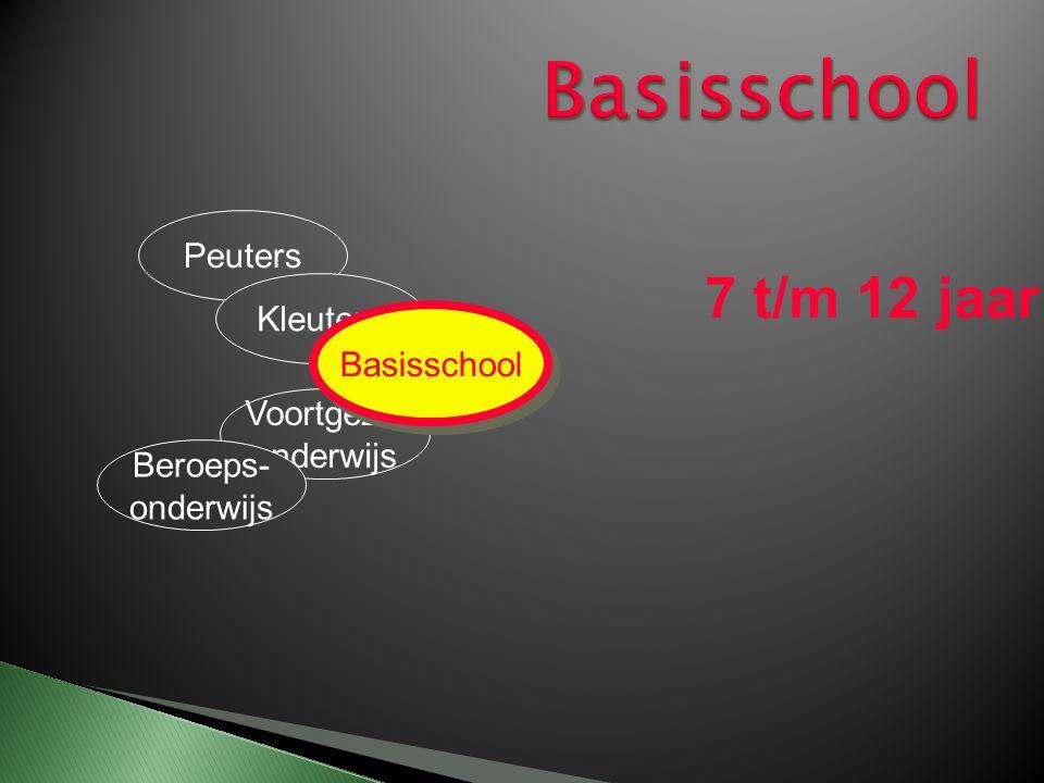 Peuters Kleuters Basisschool Beroeps onderwijs 12 t/m 19 jaar Voortgezet onderwijs Voortgezet onderwijs